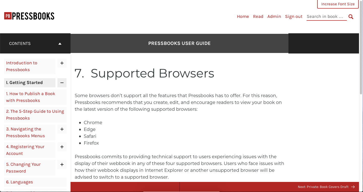 The webbook interface