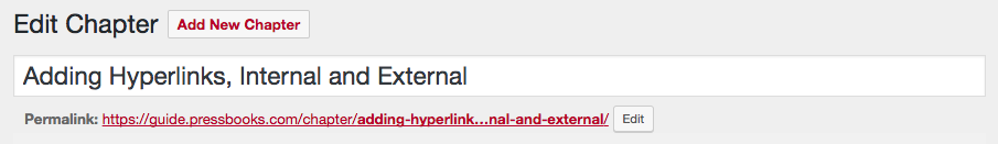 Internal Links with Permalink