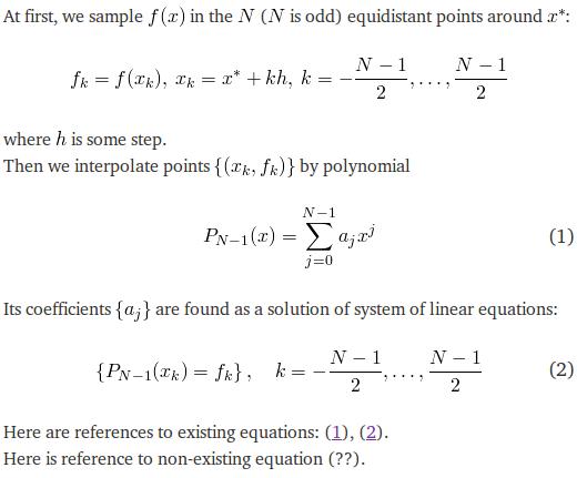 Example of QuickLaTeX
